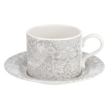 Spode Pure Morris Strawberry Thief - Teacup And Saucer