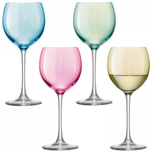 LSA Glassware - Polka Wine Glasses Set Of 4