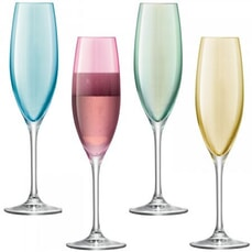 LSA Glassware - Polka Champagne Flutes Set Of 4