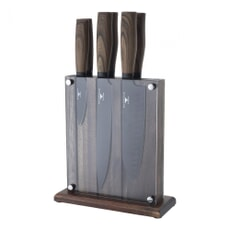 Rockingham Forge 7 Piece Knife Block Set Black