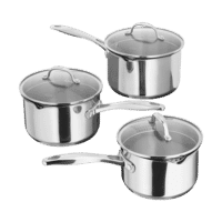 Stellar 7000 Draining 3 Piece Saucepan Set