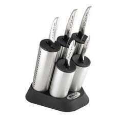 Global SAI Cylinder 6 Piece Knife Block Set