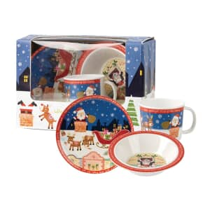 Churchill Little Rhymes - When Santa Got Stuck 3 Piece Melamine Set