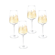 Sara Miller Chelsea Collection - Gold Leaf Wine Glass Set Of 4
