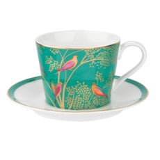 Sara Miller Chelsea Collection - Teacup And Saucer Green
