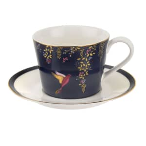 Sara Miller Chelsea Collection - Teacup And Saucer Navy