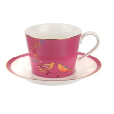 Sara Miller Chelsea Collection - Teacup And Saucer Pink