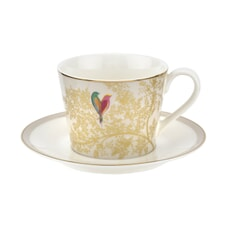 Sara Miller Chelsea Collection - Teacup And Saucer Light Grey