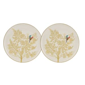 Sara Miller Chelsea Collection - Cake Plates Set Of 2 Light Grey