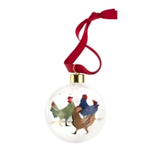 Sara Miller Christmas Collection - Bauble 3 French Hens