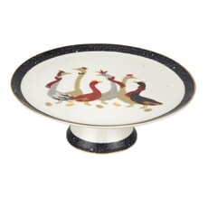 Sara Miller Geese Christmas Collection - Footed Cake Plate