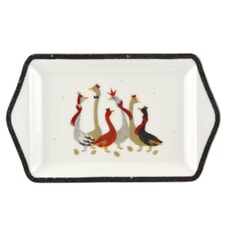 Sara Miller Geese Christmas Collection - Dessert Tray