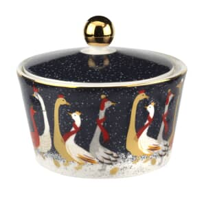 Sara Miller Geese Christmas Collection - Lidded Bowl