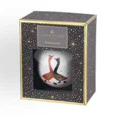 Sara Miller Geese Christmas Collection - Bauble Red And Blue