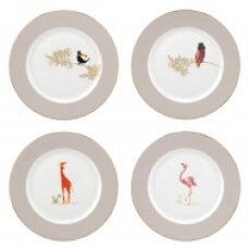 Sara Miller Piccadilly Dessert/Salad Plate Set Of 4