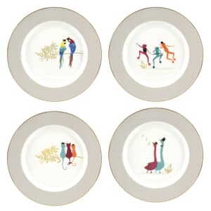 Sara Miller Piccadilly Cake Plates Set Of 4