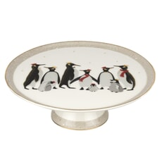 Sara Miller Penguin Christmas Collection - Footed Cake Stand