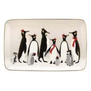 Sara Miller Penguin Christmas Collection - 7.5 Inch Tray