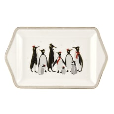 Sara Miller Penguin Christmas Collection - Dessert Tray