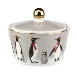 Sara Miller Penguin Christmas Collection - Lidded Bowl