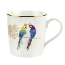Sara Miller Piccadilly Mug - Posing Parrots