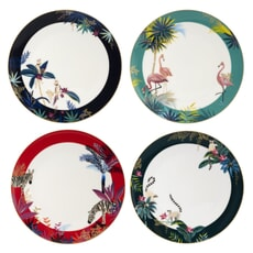 Sara Miller Tahiti  - Dinner Plate Set Of 4