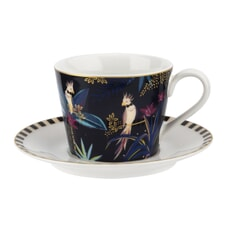 Sara Miller Tahiti  - Cockatoo Teacup And Saucer