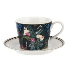 Sara Miller Tahiti  - Lemur Teacup And Saucer