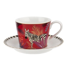 Sara Miller Tahiti  - Zebra Teacup And Saucer