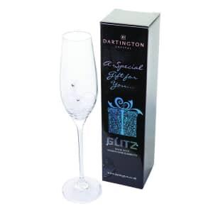 Dartington Glitz Single Champagne Flute Gift Boxed