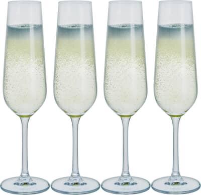 Free Set of 4 Dartington Profile Champagne Flutes