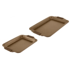 Tower 2 Piece Baking Tray Set Gold