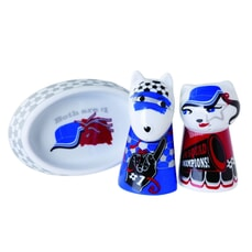 Top Choice - Footie Fans Salt Dog And Pepper Cat