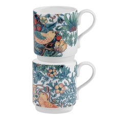 Spode Strawberry Thief - Stacking Mugs Set Of 2