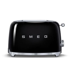 Smeg 2 Slice Toaster Black