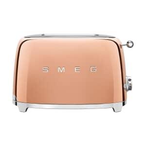 Smeg 2 Slice Toaster Rose Gold