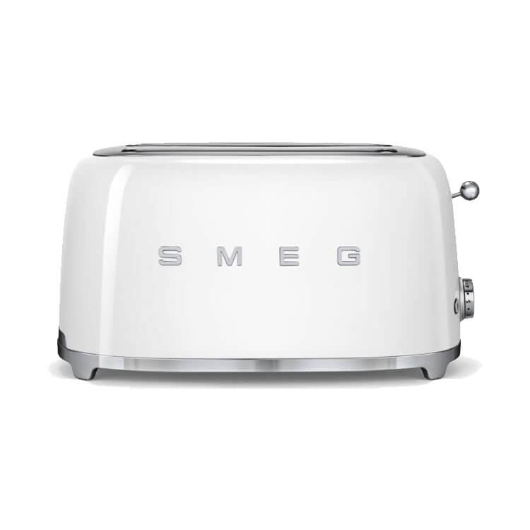 Smeg 4 Slice Toaster White Tsf02whuk Ecookshop