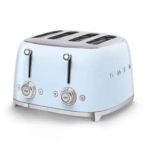 Smeg 50s Retro 4 Slice Toaster Pastel Blue