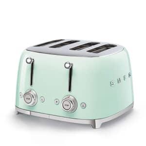 Smeg 50s Retro 4 Slice Toaster Pastel Green