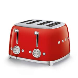 Smeg 50s Retro 4 Slice Toaster Red