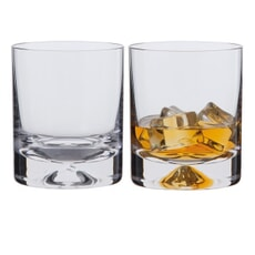 Dartington Dimple Old Fashioned Pair