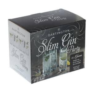 Dartington Party Pack Set Of 6 Slim Gin Glasses
