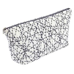 Murmur Mura Wash Bag Warm White / Indigo