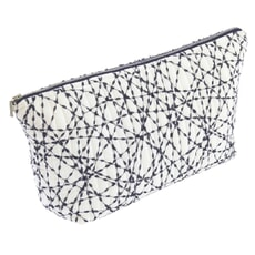 Murmur Mura Wash Bag Warm White / Indigo