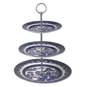 Blue Willow - 3 Tier Cake Stand
