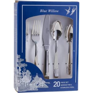Blue Willow - 20 Piece Cutlery Set