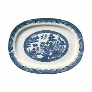 Blue Willow - Oval Platter 47cm