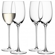 LSA Glassware - Wine White Wine Glasses Set Of 4