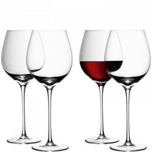 LSA Glassware - Wine Red Wine Glasses Set Of 4