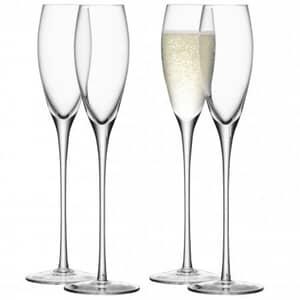 LSA Glassware - Wine Champagne Flutes Set Of 4